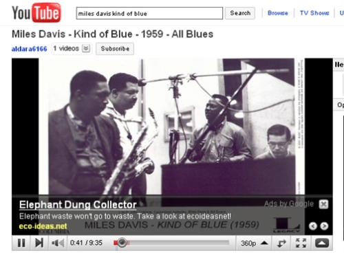 Miles Davis elephant dung advert