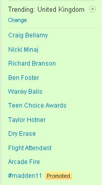 Wanky Balls trending on Twitter