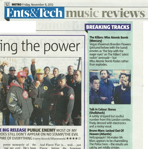 Talk In Colour - Metro Nov12